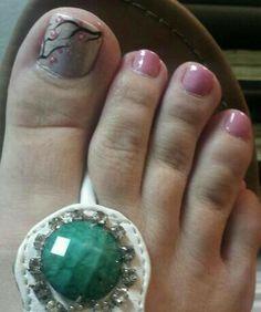 Cherry blossom toe nail art