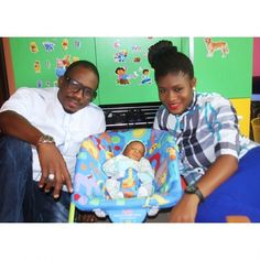Photo of #Nollywood actor Junior Pope, with his beautiful wife Jennifer Okpuno, and their newborn baby JASON! They are known as the J family! Read more: http://www.nollywoodsocial.com/photo/644/ #JuniorPope #Actor #Nigeria #Family