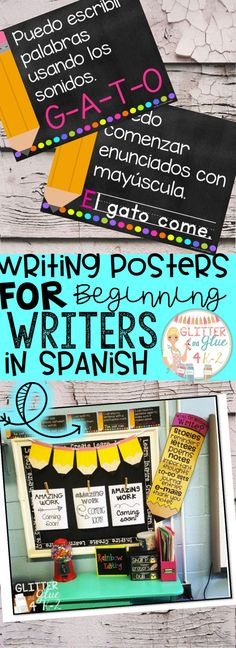 Now available in Spanish! These posters are perfect to hang in your writing center for your little ones! I would recommend these be used in either a preschool, kindergarten, or first grade classroom! I've included a version with a black background and a printer-friendly version with a white background.Keywords: ESL, bilingual teacher, Spanish resources. writing centers, kindergarten, first grade, anchor charts, chalk theme, neon, classroom décor, bright classroom