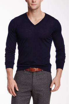 Giorgio Armani Uomo V-Neck Wool Sweater