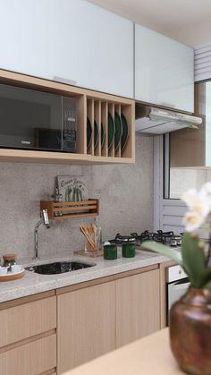 Kitchen Room Design, Kitchen Cabinet Design, Home Decor Kitchen, Kitchen Furniture, Kitchen Interior, Home Interior Design, Home Furniture, Modern Bungalow Exterior, Diy Kitchen Storage