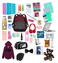 """Whats in my backpack"" by tayler-pangos ❤ liked on Polyvore"