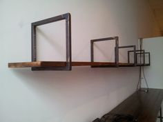 Steel Squared welded steel shelving brackets by BlackBarnDesigns