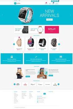 Premium Watches Online Store #Magento #template. #themes #business #responsive #webshop #Magentothemes