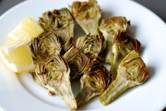 Roasted Baby Artichokes #cleaneating