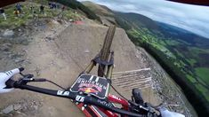Dan Atherton Sends It Down the Hardline MTB Track   Red Bull Hardline: G...