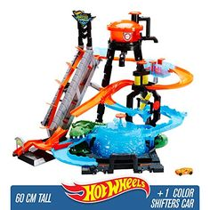 Hot Wheels Ultimate Gator Car Wash Playset Toy Gift for Kids Minecraft Bedroom Decor, Festa Hot Wheels, Ultimate Garage, Gaspard, Lifted Cars, City Car, Water Tower, Car Wash, Diy For Kids