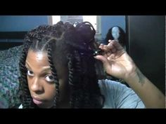 How To|  Long Afro Puffy Twists Tutorial (Natural/Transitioning Hair)