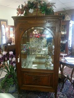 Imported from Germany Oak China Cabinet