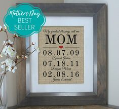 Unique Mother of the Bride Gift Personalized Gifts for Mom Birthday Gift from Daughter Gifts for Mom Gift Mother of the Groom Gift - Landlikes Sites Mother Of The Groom Gifts, Mothers Day Gifts From Daughter, Unique Mothers Day Gifts, Mothers Day Crafts For Kids, Mother Gifts, Mum Birthday Gift, Best Birthday Gifts, Birthday Ideas, Husband Birthday