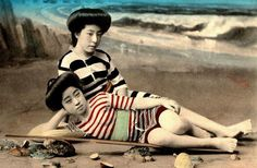 Geisha Swimsuit 2 Rare Vintage Swimsuit Photos Of Geisha