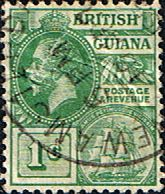 British Guiana 1913 George V Head and Ship SG 259 Fine Used SG 260 Scott 179 Other Guyana Stamps Here