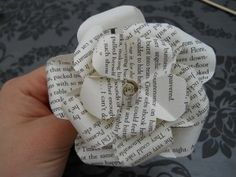 Making paper flowers.
