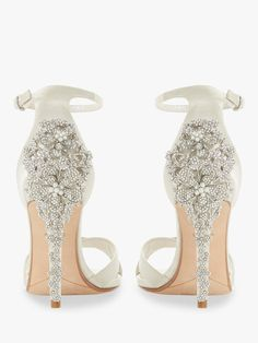 137dd1111a Dune Marvelle Bridal Collection Embellished Stiletto Heel Sandals, Ivory  Satin