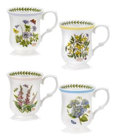 Take a look at this Botanic Garden Terrace Botanic Garden Scalloped Mug - Set of Four today!