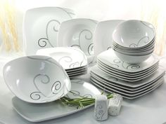 Porzellan Tafelservice Essservice Kombiservice 28tlg TK-972  Malia ann  NEU Malia Ann, Decorative Plates, Ebay, Tableware, Home Decor, Dinner Sets, Gifts, Essen, Dinnerware
