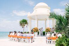 A beach destination wedding at grand palladium resort & spa in riviera maya, mexico Punta Cana Wedding, Beach Wedding Reception, Beach Ceremony, Wedding Venues, Wedding Photos, Wedding Stuff, Wedding Gazebo, Wedding Ideas, Wedding Things