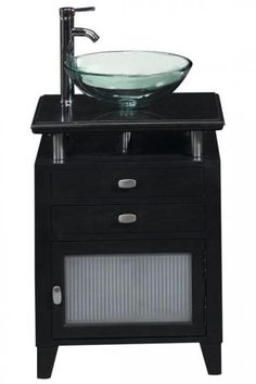 Home Decorators - Black Granite Moderna Sink Cabinet. I love this!