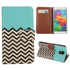 PU Tropical Twist Leather Wallet Flip Cover Stand Case Samsung Galaxy S5 i9600 #Samsung