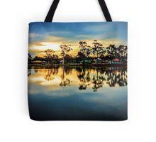 Sunset Reflections at Lake Neangar - Eaglehawk, Victoria Tote Bag