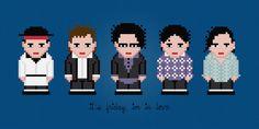 The Cure Rock Band Digital PDF Cross Stitch by AmazingCrossStitch