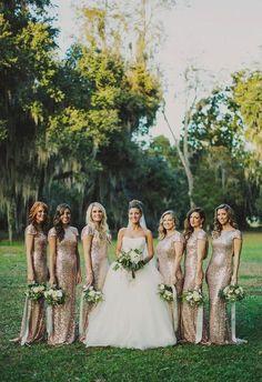42 Fabulous Winter Bridesmaids' Dresses And Wraps | HappyWedd.com