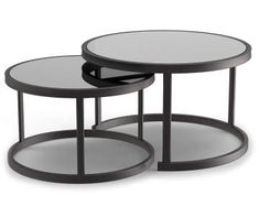 Lakewood Double Round Nested Coffee Tables 2 Piece Set