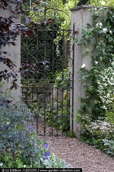 CURB APPEAL – another great example of beautiful design. Through the garden gate.