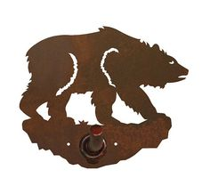 Brown Bear Bath Accessories Steel over by CabinExclusive