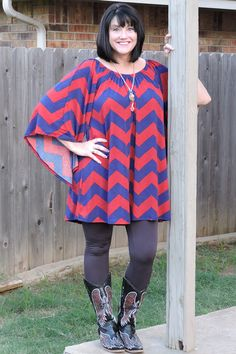 One Faith Boutique - Wine and Blue Chevron Wide Sleeve Tunic/Dress ~ Sizes 12-18, $36.00 (http://www.onefaithboutique.com/new-arrivals/wine-and-blue-chevron-wide-sleeve-tunic-dress-sizes-12-18/)