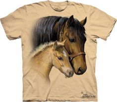 Gentle Touch « Epic Shirts - My 3 year old is going to love these I hope, they are too big though I got this in a medium but the neck line in pretty small so she'll still be able to wear it maybe to sleep for now. My kid loves horses that why I bought this. The print is beautiful, so realistic, so tender and sweet and natural. The fabric is thick but not too thick –  just thick enough for a short sleeve t-shirt. Great for boys or girls, and horse enthusiasts!