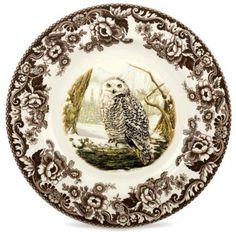 Spode Woodland Birds of Prey Dinner Plate - Winter Owl by Spode Woodland, http://www.amazon.com/dp/B005M4U1EE/ref=cm_sw_r_pi_dp_RLKyqb0EXZG62