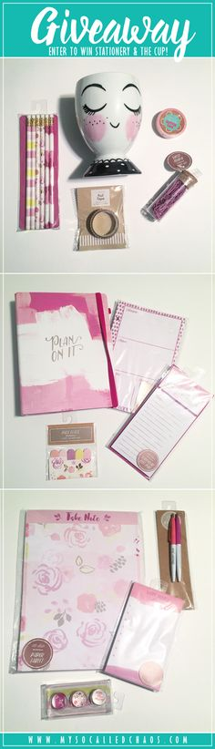 It's time for the fourth stationery giveaway this month, and this one is more simple/elegant plus it has that highly sought target face cup! So cute!  Pretty Purple Stationery Giveaway + THE Cup http://mysocalledchaos.com/2017/04/stationery-giveaway-the-cup.html