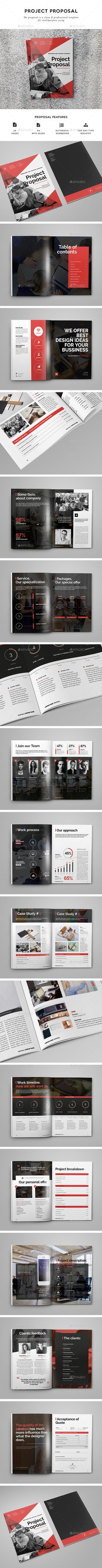 Modern and Clean Proposal Template InDesign INDD. Download here: http://graphicriver.net/item/proposal/15598150?ref=ksioks