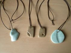 New this year. Pendants made from polished soapstone with leather cord. Designed and made by Andy Hayward.  www.bbfly.co.uk