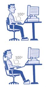 How to sit properly at work