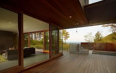 Fire Lane Retreat on the shores of Lake Michigan. No defining line between inside and outside = LOVE!