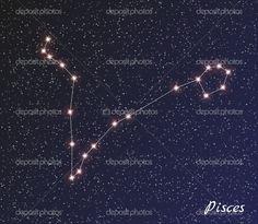 Constelación de Piscis — Ilustración de stock #52807999