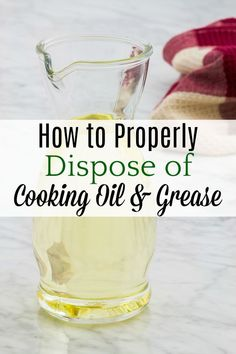 Not disposing of cooking oil correctly can lead to expensive repairs and environmental problems. Greasy Food, Green Living Tips, Plumbing Problems, Leftovers Recipes, Natural Cleaners, Cooking Oil, Grease, Homemaking, Health And Wellness