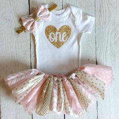 Cake smash tutu outfitcake smash outfit pink and gold fabric