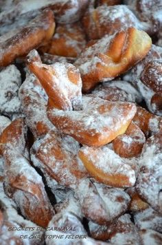Delicious carnival donuts from Christophe Felder, soft and perfumed. Gourmet Recipes, Sweet Recipes, Baking Recipes, Dessert Recipes, Churros, Chefs, Christophe Felder, Pudding Recipes, Mardi Gras