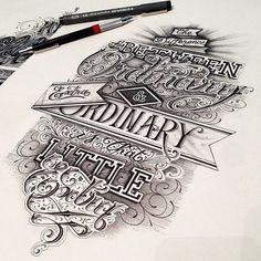 selection typography