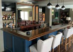 Finished Bar Gallery - Hardwoods Incorporated Home Bar Plans, Basement Bar Plans, Basement Bar Designs, Home Bar Designs, Basement Ideas, Basement Bars, Basement House, Basement Renovations, Garage Ideas