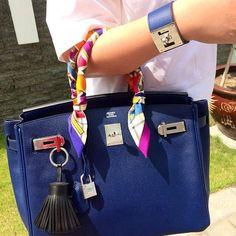 #Bag #Blue #Scarf #Hermes