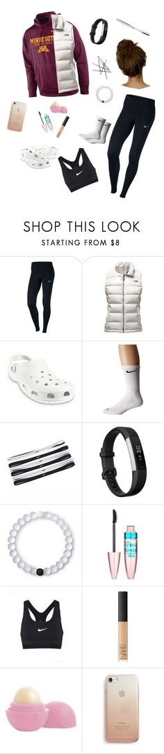 """Everyday Casual"" by miriamk2020 ❤ liked on Polyvore featuring NIKE, The North Face, Crocs, Fitbit, Lokai, Maybelline, NARS Cosmetics, Eos and Rebecca Minkoff"
