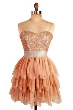 Adorable Multi-layers A-line Sweetheart Mini Prom Dress with Sequins