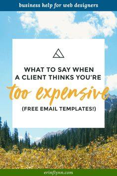 Learn how to respond when a client says you're too expensive!