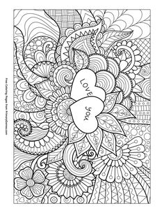 I Love You Coloring Pages for Adults | explore colouring pages ...