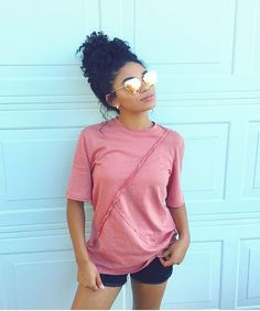 Natural healthy hair tips for those who wants to see long lasting hair grow Pretty Black Girls, Black Is Beautiful, Black Girls Hairstyles, Afro Hairstyles, Curly Hair Styles, Natural Hair Styles, Curls For The Girls, Pelo Natural, Healthy Hair Tips
