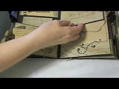 Tim Holtz Paper Stash Mini Album - YouTube